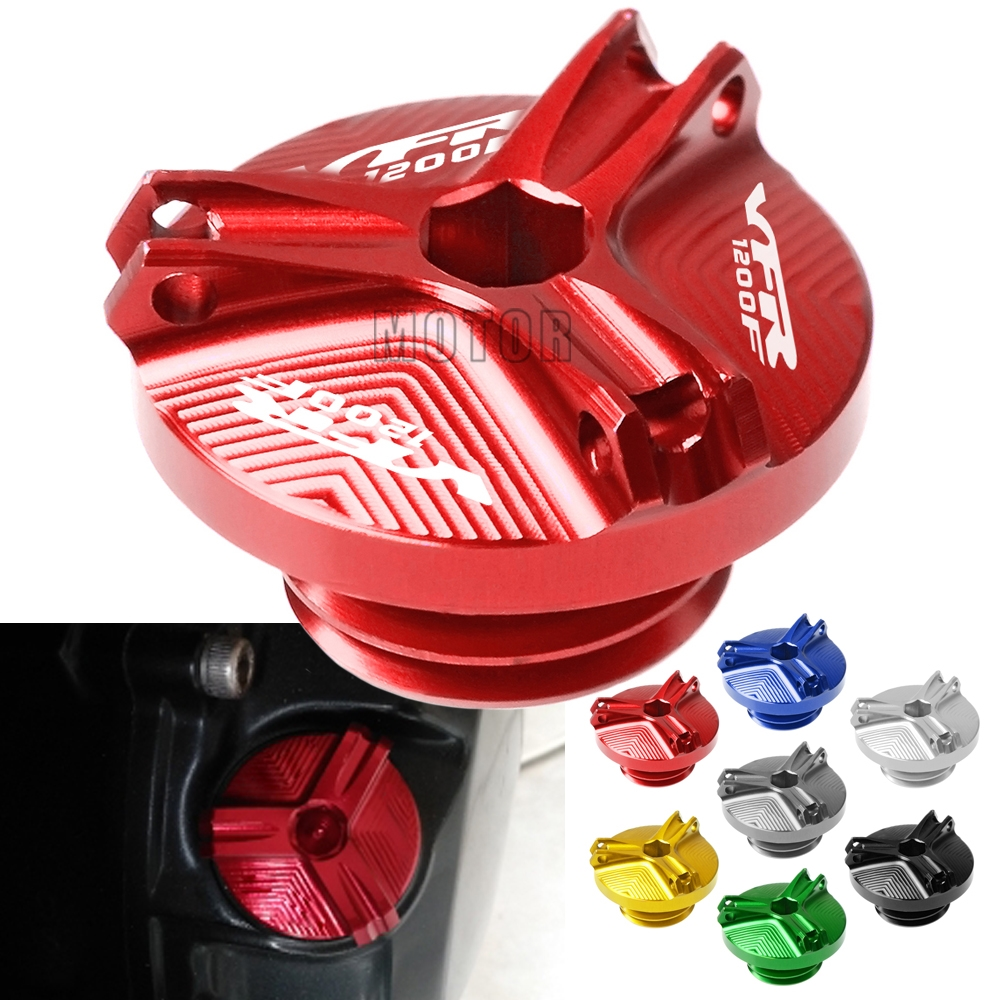For Honda VFR1200F 2010-2016 <font><b>VFR1200</b></font> VFR 1200 F 1200F CNC Motorcycle Motorbike M20*2.5 Engine Oil Cup Cover Oil Fill Cap Plug image