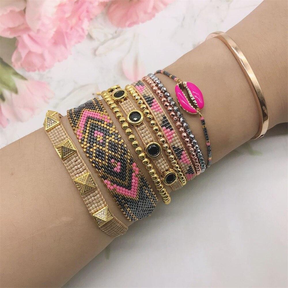 ZHONGVI Boho Miyuki Bracelet 2020 New Arrival Friendship Pulseras Rainbow Jewelry Handmade Loom Woven Bracelets For Girls(China)