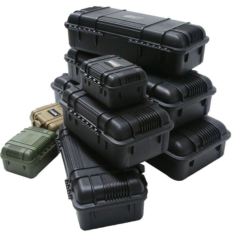 Boîte à outils de sécurité boîte à outils protectrice étanche antichoc boîte à outils scellée valise résistante aux chocs avec éponge
