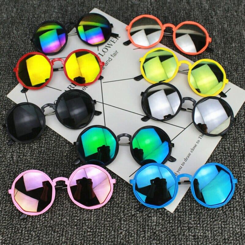 Korean Fashion Kids Children Colorful Sunglasses Round Reflective Glasses Baby Children UV400 Sport Sunglasses Toys Accessories