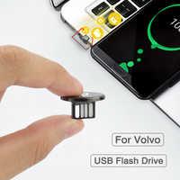 1 Uds Mini coche Flash Drive USB 2,0 de memoria de disco para Volvo XC60 XC90 S60 V40 V50 V60 XC40 V70 V90 S90 S80 C30 S40 XV40 S70 XC70