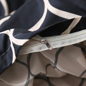 Image 3 - LOVINSUNSHINE Luxuryชุดเครื่องนอนSuper Kingผ้านวมชุดหินอ่อนเดี่ยวQueenขนาดสีดำผ้านวมคลุมเตียงผ้าปูที่นอนผ้าฝ้ายXx14 #