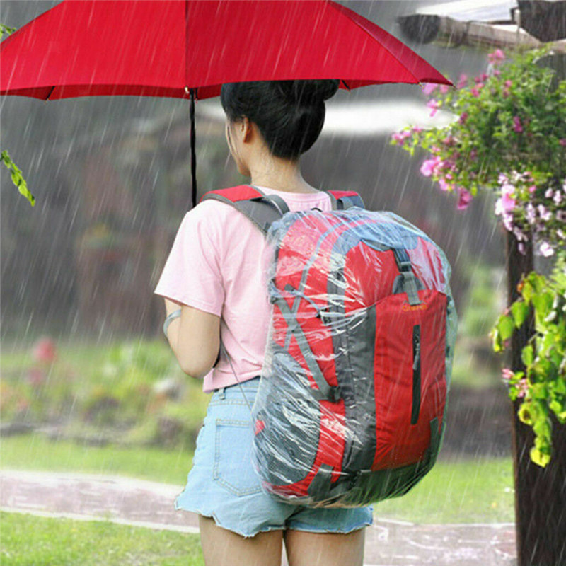 Disposable Solid Large Rain Cover Bike Bag Bicycle Cycling Backpack Waterproof Rain Cover for Outdoor Climbing Travel Tools