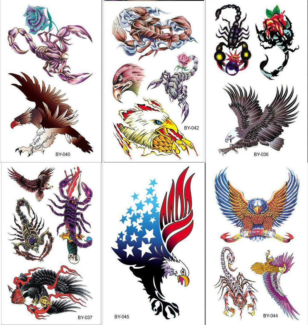 Eagle Fake Tattoo Water Transfer Waterproof Temporary Sticker Flower Arm Women Men Sexy Beauty Body Art Cool Stuff Cheap Fine