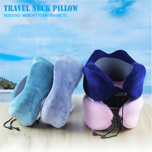 Memory Foam Travel Pillow Neck Pillow U Shaped Soft Head Car Flight Office Rest Support Airplane Travel Pillow travel pil gel mf langria u shaped memory foam travel neck pillow with cooling gel technology for airplane car train home office napping reading and leisure