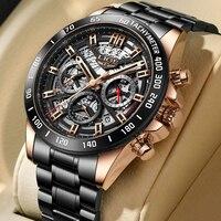 2021 nuovi uomini orologio sportivo Casual orologio da uomo di lusso delle migliori marche cronografo con data impermeabile orologio da polso da uomo in acciaio inossidabile LIGE