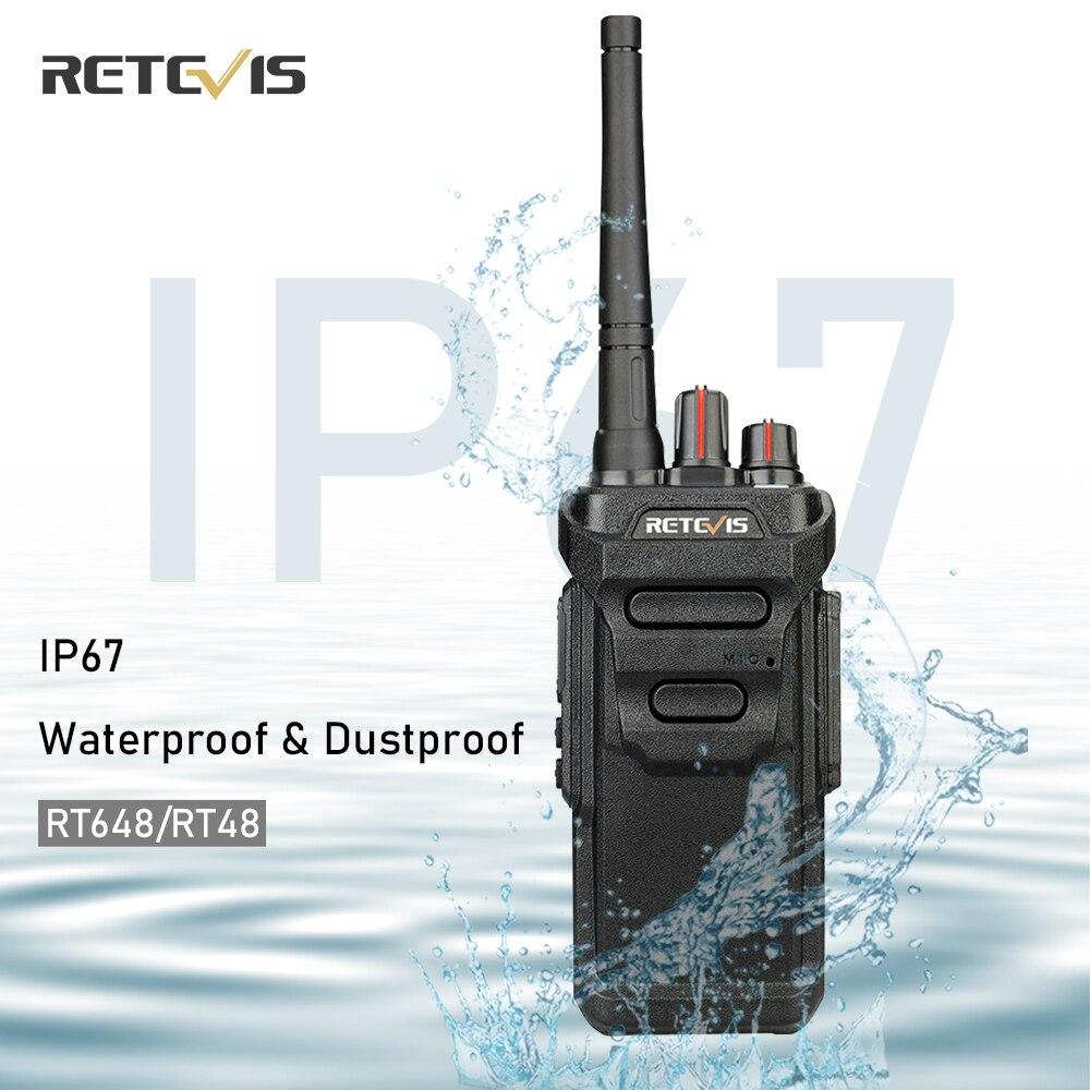 Водонепроницаемая рация RETEVIS RT48/RT648 IP67 с плавающим ПМР радио PMR446/FRS VOX USB зарядка двухстороннее радио для Baofeng UV-9R
