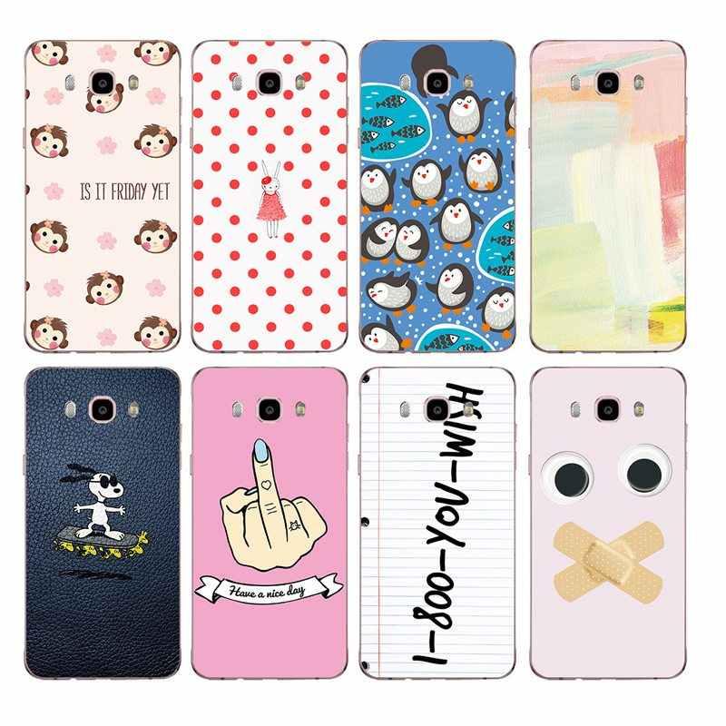 Lembut TPU Ponsel Case Bunga Kartun Berwarna-warni untuk Samsung J3 J5 J7 J1 J2 S6 S7 S8 Plus Note8 Note9 s10 S9 J530 J730 J8 J6 C425