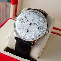 Riff Tiger/RT Designer Uhren für Männer Luxus Automatische Uhren Stahl Braun Lederband Uhren Relogio Masculino RGA82B0