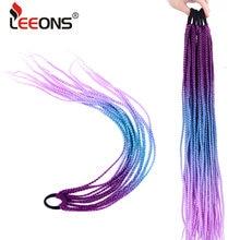 Leeons синтетический конский хвост длинные прямые косы в коробке