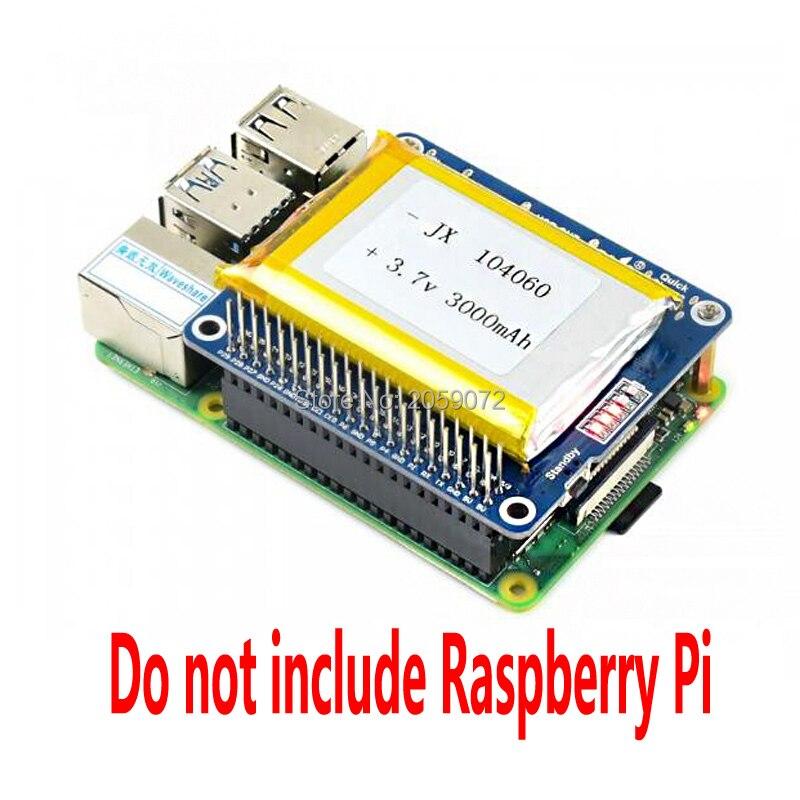 Крышка для литий-полимерного аккумулятора Raspberry Pi, выход 5 В, быстрая зарядка, для Raspberry Pi Zero 3B 4B