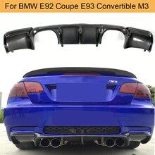 Углеродное волокно добавить на Автомобильный задний бампер спойлер диффузор для BMW E92 купе E93 трансформер M3 2008-2013 без 4 двери черный FRP
