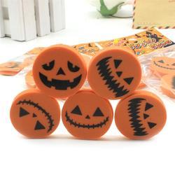36pcs Pumpkin Shaped Eraser Halloween Creative Stationary Eraser for Kids Students