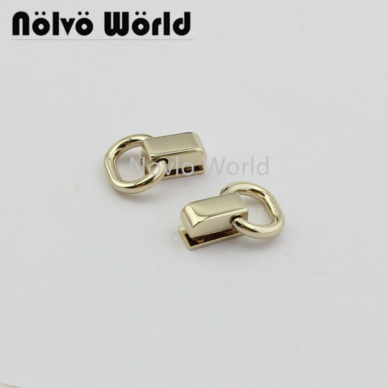 4 Pieces Test, Light Gold Metal Side Clip Hardware Handbag Purse Hanger Connector Accessories