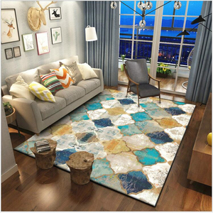 AOVOLL Vintage American Geometry Moroccan Ethnic Style Bedroom Door Living Room Mat Carpet Bedroom And Rugs For Living Room(China)