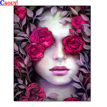 diamond embroidery beauty girl mosaic crystal 5d cross stitch full square drill diamond painting diy sticker decor paintings Flowers 5D Diy Diamond Embroidery Beauty Diamond Mosaic Drawing Full Square Round Drill Diamond Painting Cross Stitch Home Decor