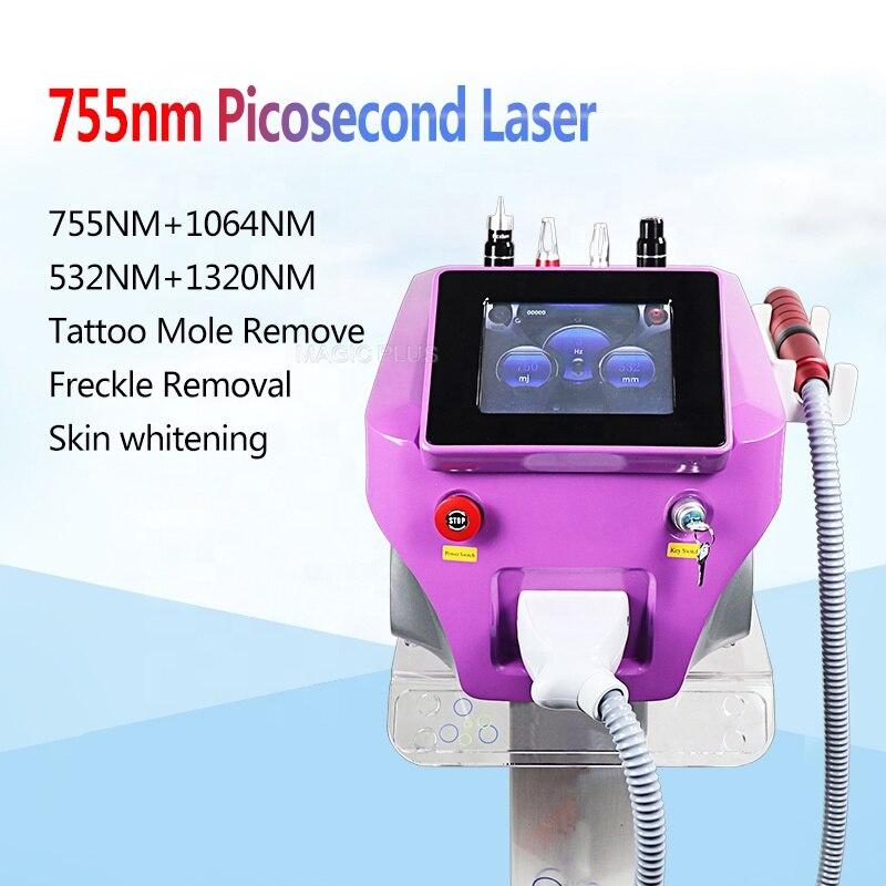 Livraison gratuite Laser portatif de picoseconde de Picosure de Laser de Nd Yag avec la peau de peau de carbone blanchissant la Machine de retrait de tatouage