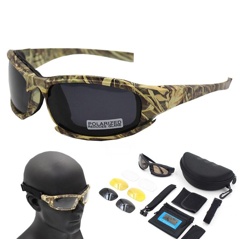 Kính Phân Cực Đi Bộ Đường Dài Kính Mát Ngụy Trang Tacticcal Kính Airsoft Chụp Kính Câu Cá Kính Mắt Oculos De Sol Masculino