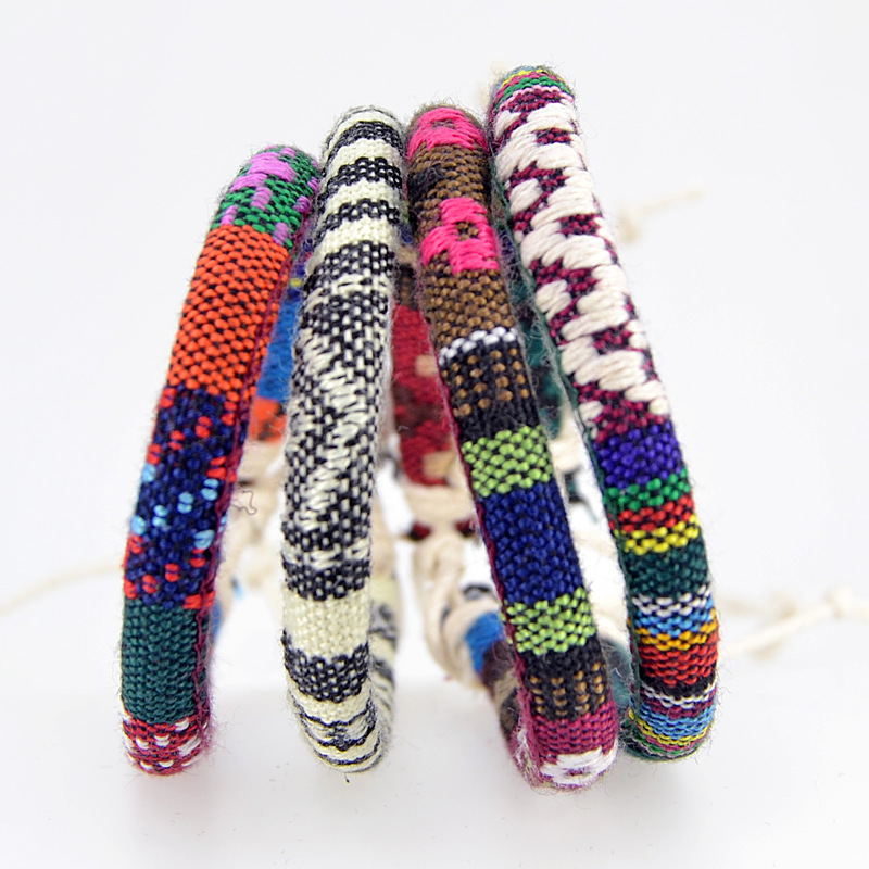Bohemian Thread Bracelet Retro Handmade Boho Multicolor String Cord Woven Braided Hippie Friendship Bracelets Women Men