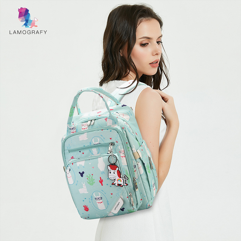 Nylon baby diaper bag backpack for mom nappy changing maternity organizer travel mommy nursing wetbag stroller accessories in Diaper Bags from Mother Kids