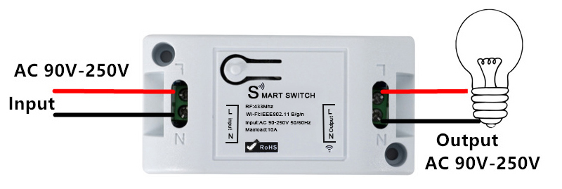 H6312a567925f438a820aeea907790c003 - QIACHIP Smart Home Wifi Switch 10A 2200W 433Mhz Wireless RF Remote Control Switch For Alexa Google Home Timer Automation Module