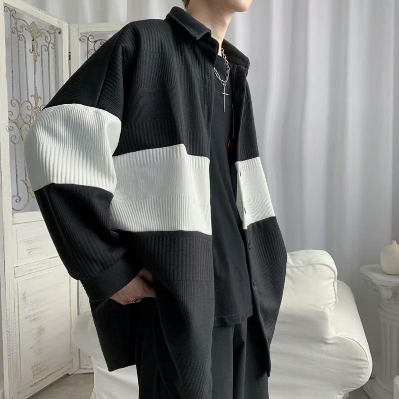 Autumn Woolen Coat Men's Fashion Retro Casual Woolen Jackets Mens Streetwear Wild Loose Korean Short Woolen Coat Men M-2XL
