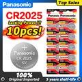 10 шт. оригинальный PANASONIC 3V CR2025 Кнопка монета литиевая батарея для цифровой камеры видеокамеры часы калькулятор батареи