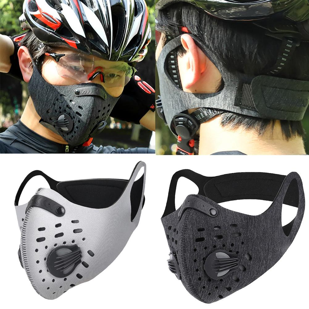 Outdoor Sports Dustproof Anti Haze PM2.5 Filter Mouth Mask Face Cover With Valve Masque Tissu Visage Femme Anti-Dust Face Mask