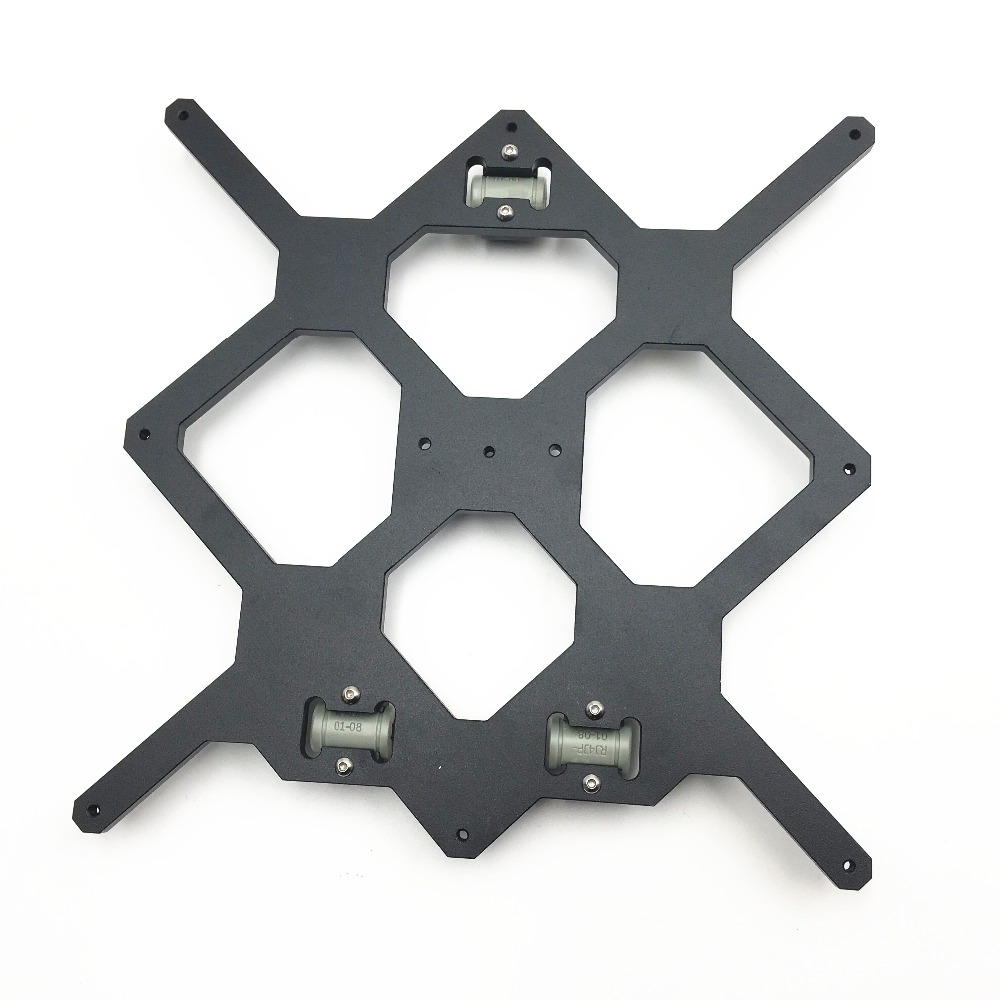 Cloned Original Prusa i3 MK3 3D Printer Aluminum Y Carriage With 3pcs nylon clips Holding LM8UU For Prusa i3 3D Printer Parts
