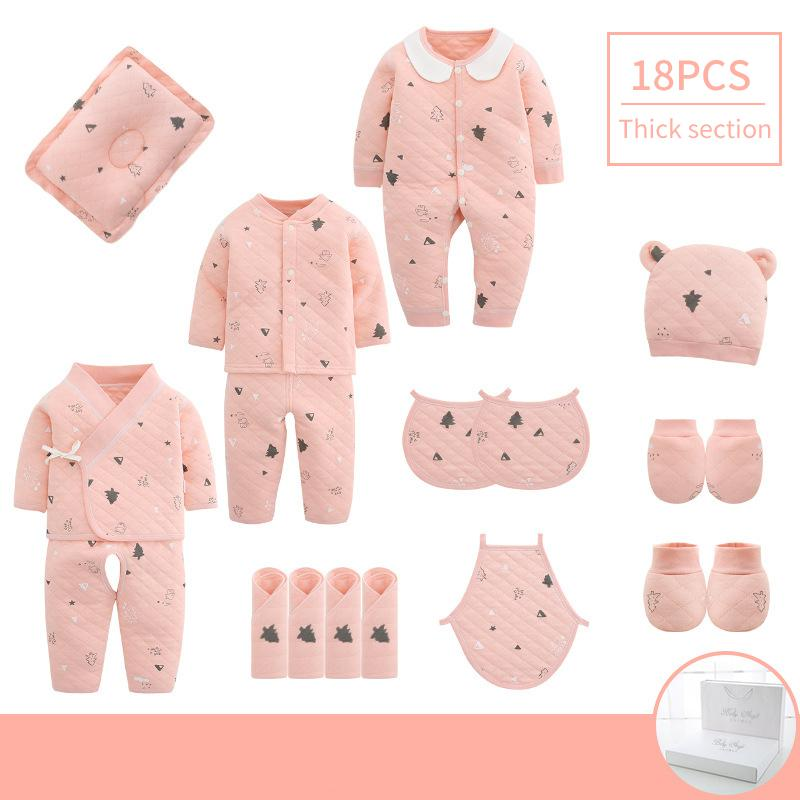 18pieces/0-3months Spring Autumn Newborn Baby Clothing 100%cotton Kids Clothes Suit Unisex Infant Boys Girls Clothing Set