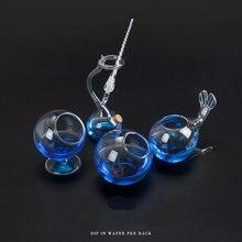 Creatieve Dip Pen Houder Decoratieve Vormige Glazen Pennenhouder Desk Organizer
