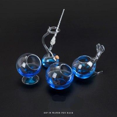 الإبداعية Dip حامل قلم ديكور على شكل زجاج حامل قلم منظم مكتب
