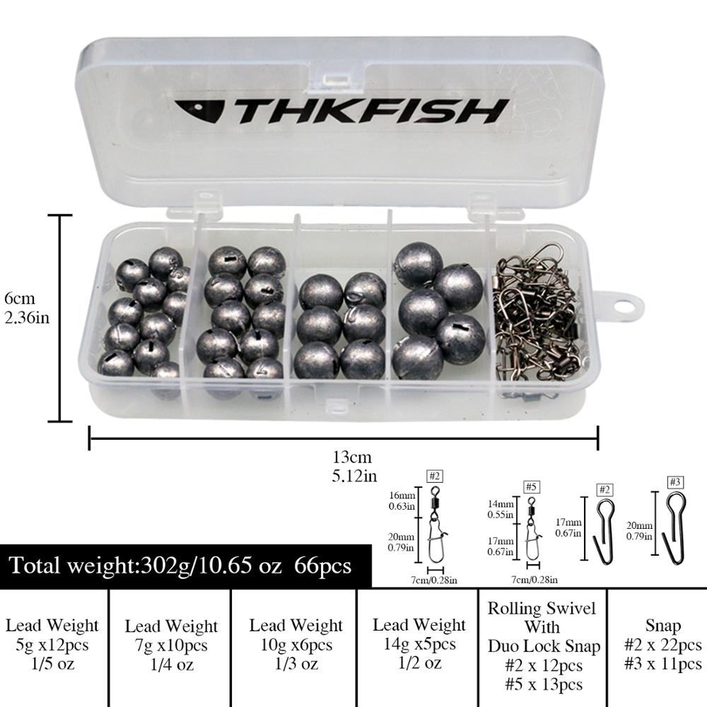 Image 2 - 46pcs/66pcs Lead Fishing Sinker Bullet Weight 5g 7g 10g 14g 20g Fishing Tackle Accessories with BoxFishing Tools   -