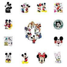 1pcs Mickey Friends Character Minnie Icon Dock Figure Sticker Iron On Clothing Thermal Transfer Heat Sensitive T-shirt Patch DIY(China)