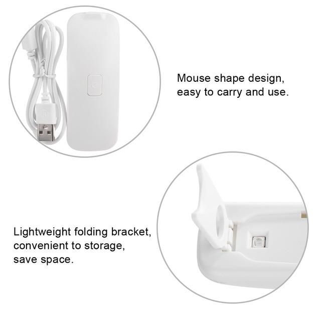 Portable Mini 3W Nail Dryer LED UV Lamp USB Port Gel Varnish Curing Machine Professional Manicure Nail Art Light Lamps Tool