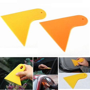 Car Window Foils Film Tools Car Sticker Scraper Car Squeegee Decal Wrap Applicator Snow/frost Wiper Plate Glass Yellow or Orange image