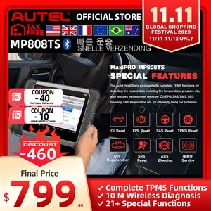 Image 1 - Autel MP808TS Diagnostic Tool Prime of DS808 Better than AP200 MK808 MK808TS Combine of MS906BT TS601 Wifi Bluetooth Scanner OBD