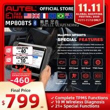 Autel MP808TS herramienta de diagnóstico Prime de DS808 mejor que AP200 MK808 MK808TS combinación de MS906BT TS601 Wifi Bluetooth escáner OBD