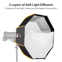 60 Cm/23.6 Inch Octagon Soft Box Portable Outdoor Softbox dengan Membawa Tas Fotografi Pencahayaan Studio Speedlite Flash Bowens(China)