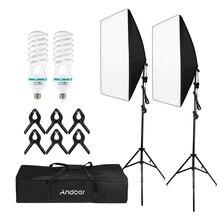 Andoer photographie Studio Cube parapluie Softbox lumière éclairage tente Kit Photo vidéo * trépied support 2 * Softbox * sac de transport