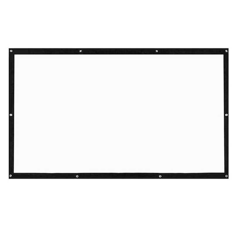 ABHU-المحمولة الإسقاط شاشات 120 بوصة 3D Hd الحائط شفافة الإسقاط شاشة قماش 16:9 جهاز عرض (بروجكتور) ليد شاشة Diy
