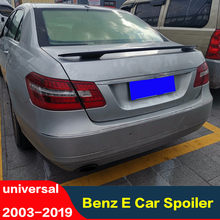 For W211 Spoiler 2003-2019 Mercedes-Benz E W211 tail fin Spoiler ABS plastic Material Car Rear Wing Color Rear wing universal(China)
