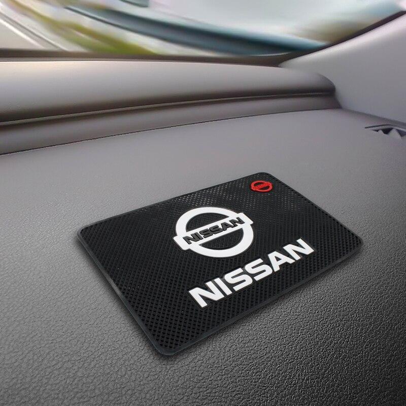 Alfombrilla antideslizante para coche, soporte para teléfono, alfombrilla antideslizante para NISSAN qashqai j10 j11 juke note leaf x trail t31 t32 Accesorios