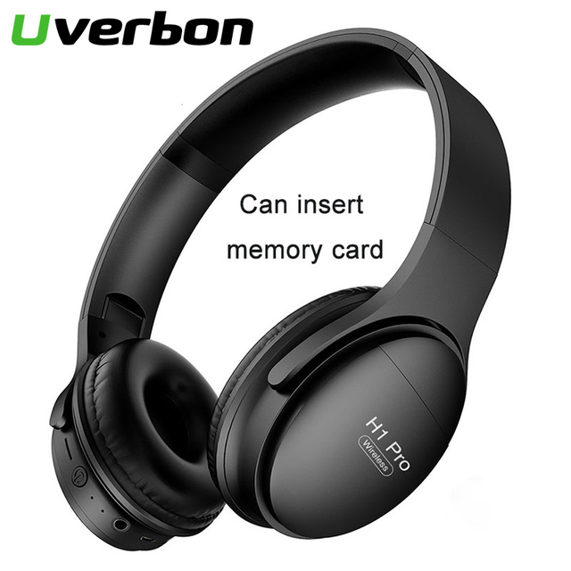 H1Pro Draadloze Bluetooth Hoofdtelefoon Noise Cancelling Sport Stereo Headset Ondersteuning Geheugenkaarten Hoofdtelefoon Bluetooth Telefoon Adapter