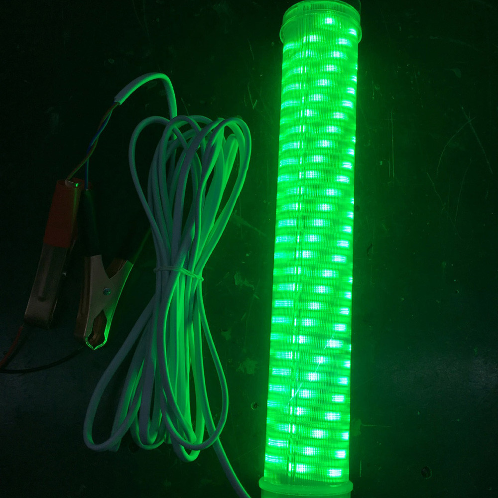 Continuous LED Underwater Submersible Fishing Light Crappie Shad Squid Green