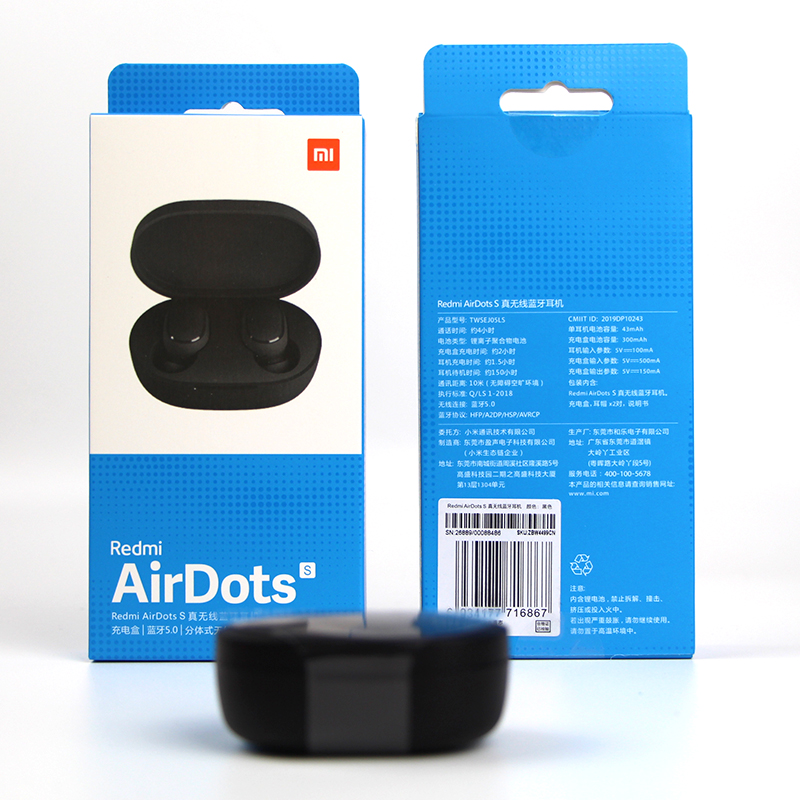 Original Xiaomi Airdots S Tws Redmi Airdots Pro 2 Earbuds Wireless Earphone Bluetooth 5.0 Gaming Headset With Mic Voice Control 6