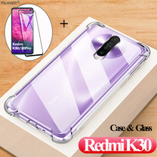 Glass + Cases For Redmi K 30 Xiaomi Soft Silione Phone Cover Xiomi Redmi K30 Shockproof Case For k30 Pro Redmi 4G/5G Luxury Case shockproof case for k30 redmi xiaomi k30 k20pro silicone cases on k20 xiomi mi9t pro cover case xaomi k 30 redmi k30 4g 5g shell