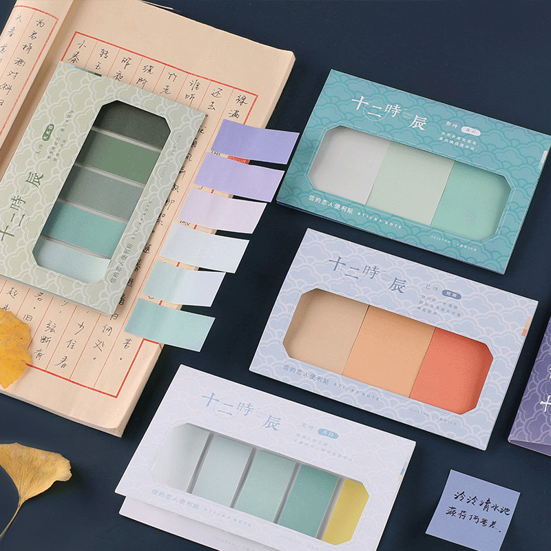 Rainbow Color Small Fresh Mini Memo Pad Planner Sticky Note Paper Sticker Kawaii Stationery Pepalaria Office School Supplies