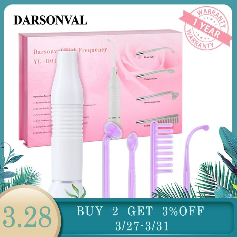 DARSONVAL Portable High Frequency Violet Purple Light Acne Spot Remover Face Massager Massageador Facial Skin Care Device SPA