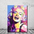 PrintmakingCanvas стены ArtPainting Гостиная домашнее украшение красочный холст с Мерилин Монро масло PaintingPortrait абстрактные пост